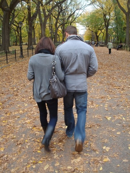 claire and me in central park