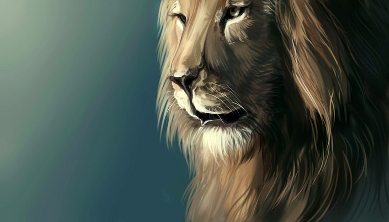 blog alpha lion painting
