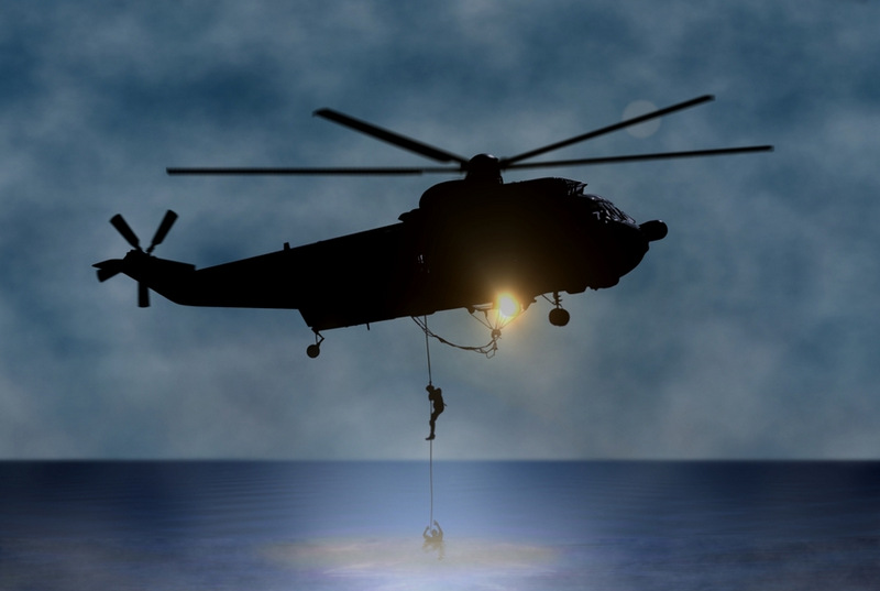 Rescue of the Person at Sea by Helicopter